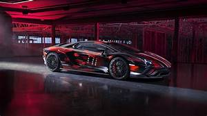 Red, Black, 2021, Lamborghini, Aventador, S, By, Yohji, Yamamoto, 3, 4k, 8k, Hd, Cars, Wallpapers