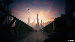Futuristic, City, Concept, Wallpapers