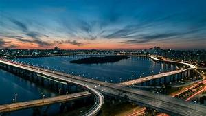 Wallpaper, Han, River, Bridge, Seoul, South, Korea, 5k, Travel, 20308