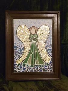Angel, Mosaic, U00b7, How, To, Make, A, Piece, Of, Mosaic, Art, U00b7, Art, Drawing, And, Embellishing, On, Cut, Out, Keep