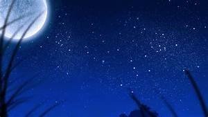 moon, and, stars, in, sky, wallpapers