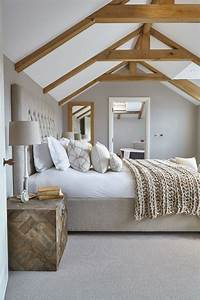 35, Chic, Bedroom, Designs, With, Exposed, Wooden, Beams