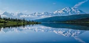 Denali, National, Park, Alaska, Range, Wonder, Lake, Hd, Wallpaper