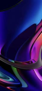 Iridescence, 4k, Wallpaper, Macos, Big, Sur, Macbook, Pro, Multicolor, Dark, Glossy, Stock, 5k