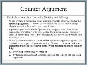 how to write a counter argument paragraph example