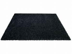 Tapis 230x160 cm SHAGGY STUDIO coloris noir Vente de Tapis Conforama