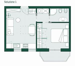 Monolocale di 35 mq: la coppia non scoppia Casa & Design