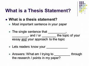 meaning for thesis