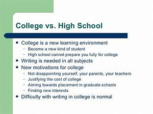 College Vs High School Essay Hyperbole And A Half Depression Part  College Vs High School Essay Syracuse University Creative Writing College  Information Petersons The Real Guide To