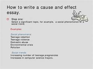 Causes And Effect Essay Example 2019-07-05 18:25