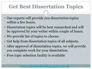 Best dissertation topics MBA Dissertation Topics in Business